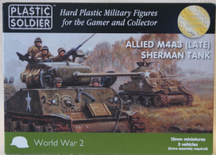 Plastic Soldier V15014 15mm WW2 M4A3(Late) 76mm & 105mm Sherman
